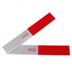 Refleks Type 4 Rød/Hvid 5 x 30 cm, sæt af 2 stk