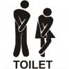 Klistermærke - Toilet
