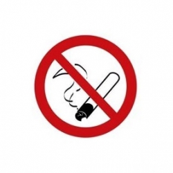 Klistermærke - Rygning forbudt Ø5cm
