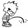 Klistermærke - Tissende dreng