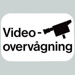Skilt - Videoovervågning 20 x 30 cm