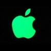 Mobilsticker - Fluoriserende IPhone logo