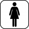 Pictogram - Toilet - Dame