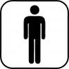 Pictogram - Toilet - Herre