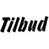 Folietekst - Tilbud (sort) 11 x 36 cm