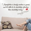 Wallsticker - Imperfection is beauty - Marylin Monroe