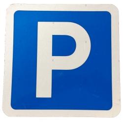 Skilt - P-skilt, parkeringsskilt 31 x 29 cm