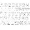 Bogstaver & tal - selvklæbende stickers, chrom
