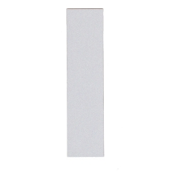 Refleksplade, 5 x 20 cm. Hvid