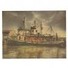 Vintage poster - Fiskerbåd