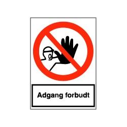 F100 - Sikkerhedsskilt - Adgang forbudt for uvedkommende (A4 Folie)